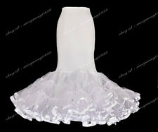 White Trumpet Mermaid Style Slip Petticoat For Mermaid Wedding Dress