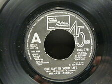 MICHAEL JACKSON One day in your life / Take me back TMG 976 ( STMR 9009 )