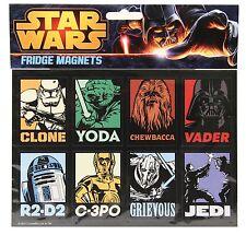 Retro Star Wars Imanes de nevera x 8 Nuevo Regalo Genial Yoda, Vader, r2-d2