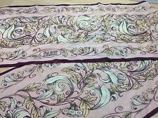 Anne McAlpin Ladies Silk Scarf Floral Rose Paris Great Cities Collection 10 x 54