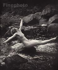 1937 Original Photo Lithograph FEMALE NUDE Woman Art Deco ALFRED CHENEY JOHNSTON