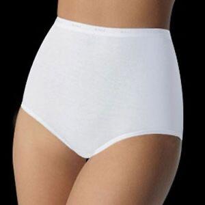 Bali Cotton/Spandex Stretch Full-Cut White Brief Plus Size 10/3XL