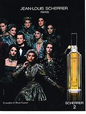 PUBLICITE ADVERTISING 054  1986  JEAN-LOUIS SCHERRER  parfum SCHERRER 2