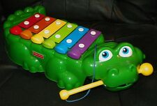 1998 FISHER PRICE Alligator XYLOPHONE Piano CROCODILE Pull-Along