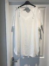 Yours White V Neck Blouse Top Size 24 Plus Size Curve Range Smart Short Sleeve