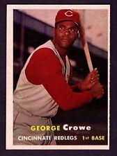 1957 Topps #73 George Crowe Cincinnati Redlegs NM-MT (OC/ST)