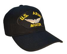 U.S. Army Aviator Hat Black Ball Cap US Army Aviator Wings MILSPEC