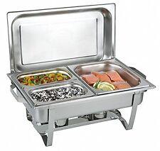 Chafing Dish Edelstahl 3 Speisebehälter 1x 1/2 und 2x 1/4 GN-Behälter