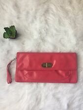 FRANCO SARTO Pink Patent Leather Clutch Purse