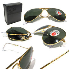 New Ray Ban Folding Aviator RB3479 001/58 Gold w/Green Polarized 55mm