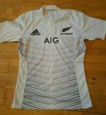 New Zealand All Blacks 2014/15 Adidas Away White Rugby Shirt Jersey M New