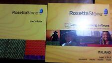 Rosetta Stone Italian Version 3 Personal Edition Level 1,2 & 3 Headset