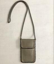 Crossbody Bag Phone Pouch Chain Shaggy Deer Falabella LUX Flap Top Purse SILVER