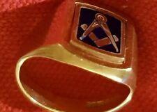More details for 9ct gold swivel masonic ring.