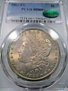 1882 CC MORGAN DOLLAR PCGS Ms 66+ VAM 3 CAC CERT DUAL TONED/PCGS GOLD SHIELD PQ+