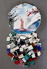 Statue Of Liberty/Cruise Ship Focal by Rosanna + 112 Mosaic Tiles/Stained Glass