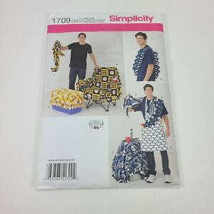 Simplicity Apron Tailgating Accessories Pattern 1709 Uncut Football Sports