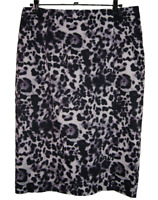 PORTMANS |  Women's Lined Pencil Skirt | Rear Split | Animal Print |  Size 12