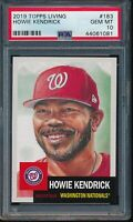 2019 Topps Living Set #183 Howie Kendrick PSA 10 Gem Mint SP Short Print Card