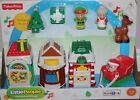 New in Box Fisher-Price holiday music little people Christmas village 10ps set