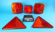 AJBA Trailer Light Kit with Fog, Number Plate Lamp Triangle Reflectors FP11 Erde