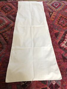Vintage  White Cotton Bolster Cover  46 X 140cm