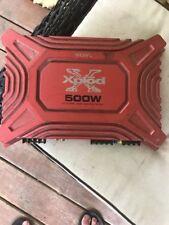 RED SONY XPLOD XM-504Z CAR AMPLIFIER, 500W, 4/3CH, 12V, NEGATIVE GROUND (E26833)
