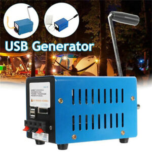 Portable Hand Crank Generator Emergency USB Charger Camping Outdoor Survival