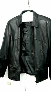 ST JOHN BAY US BRAND Genuine Leather Womens Jacket Size Small