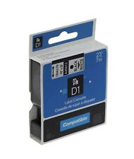 US STOCK 2 PK A45013 For Dymo D1 45013 210D Black on White Label Tape