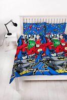 Double Bed Justice League Inception Duvet Cover Set Batman Flash Lantern Comics