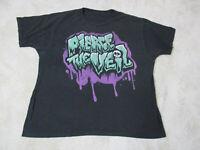 Pierce The Veil Concert Shirt Adult Extra Large Green Purple Rock Music Band Men