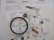 Gaggia Classic,7x O Ring Repair kit, Gasket, EPDM Boiler, Steam Valve,Wand, Opv