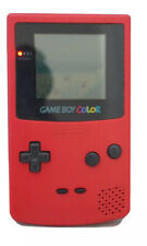 Nintendo Game Boy Color Handheld System - Flame Red with one game working