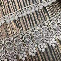 1 Yard Embroidery Lace Trim Ribbon Wedding Dress DIY Sewing Craft Decoration