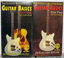 2 Vhs Guitar Basics Acoustic or Electric Step 1 & 2 Ultimate Beginner Series