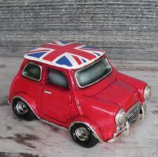Spardose Mini Cooper rot England Auto Geldgeschenk Sparschwein Union Jack Model