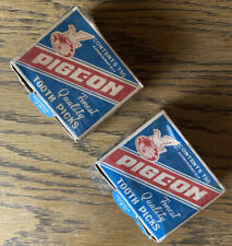 Vintage Pigeon Brand, Made in Japan Wood Tooth Picks, C.1950's, 2 Boxes in Lot