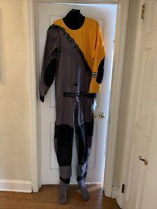 Kokatat Super Nova Paddling Suit Mango LG, Grey, & Black Large New w Tags