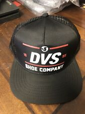 Dvs Shoe Co SnapBack Trucker Hat New With Tags Black Red One Size Adjustable