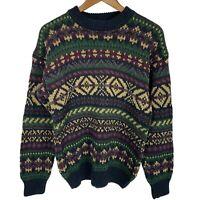 Vintage 1990's Hemp Blend County Seat Crewneck Outdoors Sweater men's sz Small