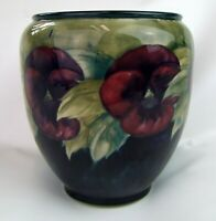 Stunning Moorcroft Pansy Pattern Planter 1920's. Made in England!