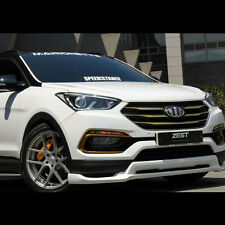 Front+Rear Lip Body kit Parts Unpainted For Hyundai Santa Fe Sports 2016~2017