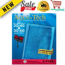 Aqua-Tech EZ 20-40 30-60 Water Fish Tank-Change Aquarium Filter Cartridge 6-Pack