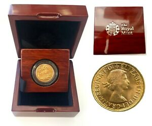1957-1968 Queen Elizabeth II Gold Sovereigns + Capsulated within Luxury Case