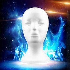 1/2/4 pcs Female Styrofoam Mannequin Head Model Foam Wig Glasses Display OL