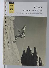 Kodak Advanced Data Book Films in Rolls B/W 1962 F-13 Promo - English USED B109F