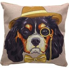Canvas Decorative Pillow Case-Dog (Multicolor)
