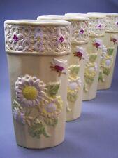 4 schöne Luftbefeuchter Keramik BLUMENRELIEF Verdunster Flachverdunster NEU