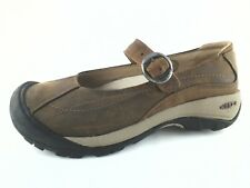 EUC $99 Womens KEEN TOYAH Leather Brown Mary Jane Loafers Shoes US 6 EU 36